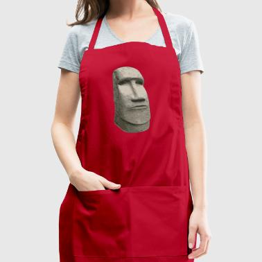 Brown Stone Easter Island Carved Moai Head - Adjustable Apron
