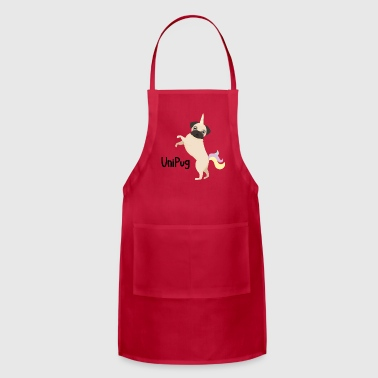 Uni Pug Funny Unicorn Dog - Adjustable Apron