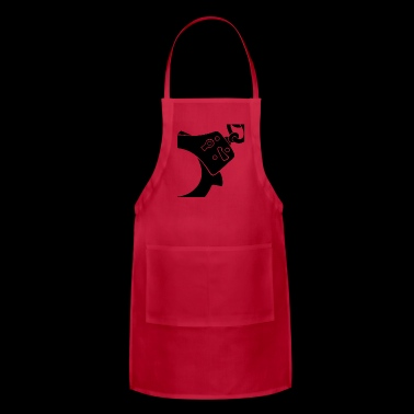 handcuff blak - Adjustable Apron