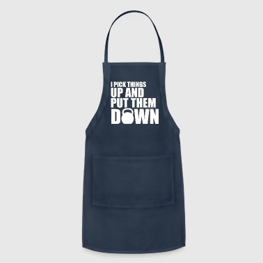 I Pick Things Up White - Adjustable Apron