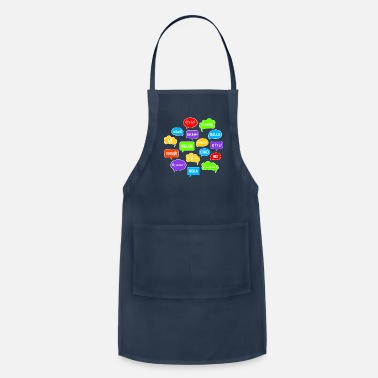 Speech Bubble Speech Bubbles Saying Hello in Various Languages - Adjustable Apron