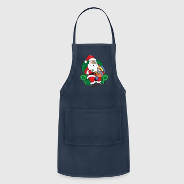 Xmas Merry Christmas Winter Santa Claus Candy - Adjustable Apron