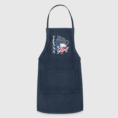 TEXAS BBQ GIRL STATE FLAG GRILLMASTER T-SHIRT GIFT - Adjustable Apron