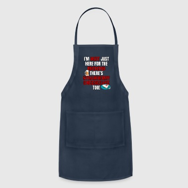 Apple I'M NOT JUST HERE FOR THE BOOS THERE'S STRAWBERRY CHEESECAKE TOO #3 with graphics - Adjustable Apron