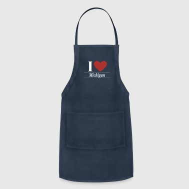 Obama I Love Michigan - Adjustable Apron
