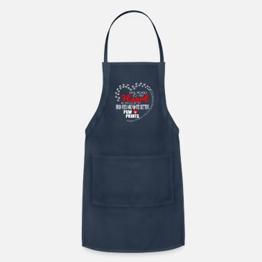 Dog Paw The Road To My Heart Is Paved With Irish Red And White Setter Paw Prints - Adjustable Apron