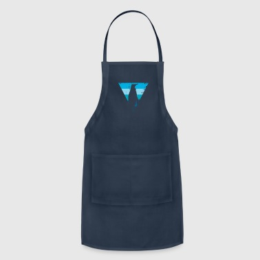 Emperor penguin shadow with blue triangle - Adjustable Apron