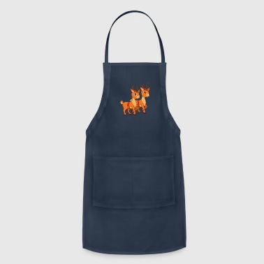 Xmas Merry Christmas Winter Reindeers - Adjustable Apron