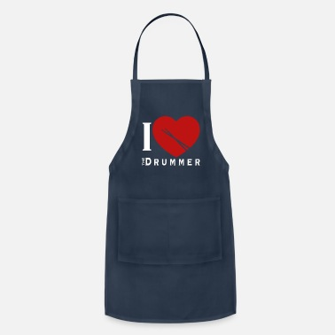 Rocknroll Drummer Drums Band RocknRoll - Adjustable Apron