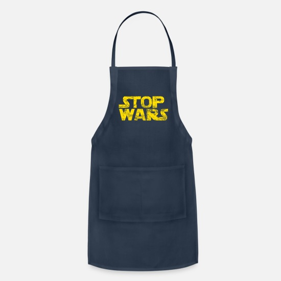 Anti War Aprons - STOP WARS - Apron navy