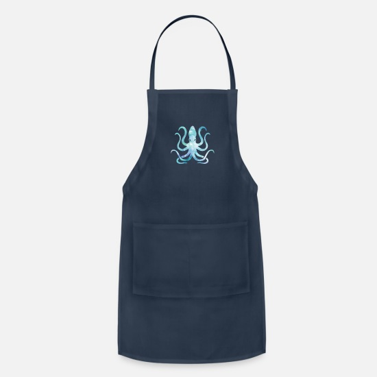 Lover Aprons - Watercolor Octopus - Apron navy