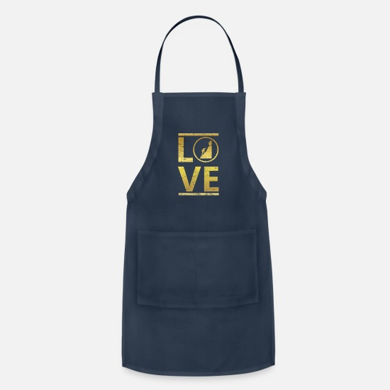 Love Aprons - love calling profi king meister hiking klettern be - Apron navy