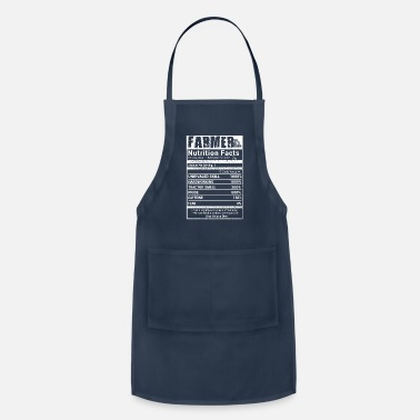 Nutrition Farmer nutrition facts T Shirts - Adjustable Apron