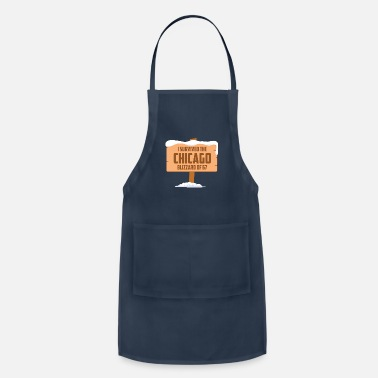 Blizzard I SURVIVED THE CHICAGO BLIZZARD OF 67 - Adjustable Apron