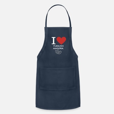 Turkish Love I Love My Turkish Angora Cat - Apron
