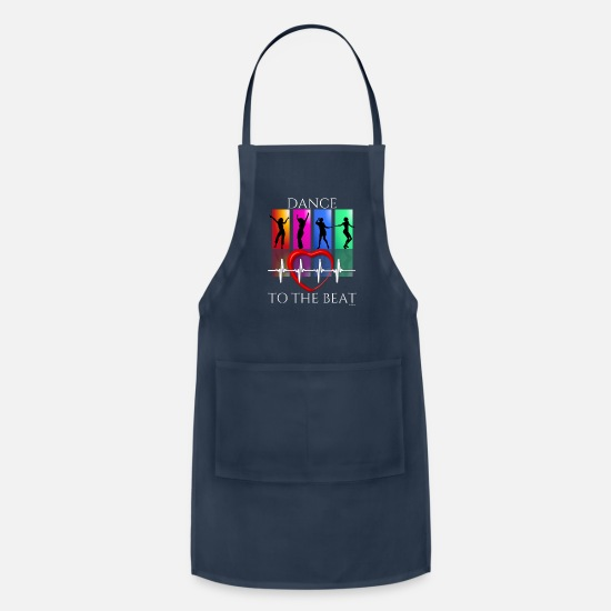 Dancing Aprons - Dance To The Rhythm Of The Beat - Apron navy
