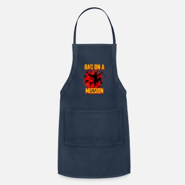 For Dad dad on a mission - dad, ninja, funny - Apron