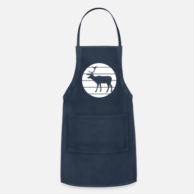 Deerskin Noble deer in the forest - Apron