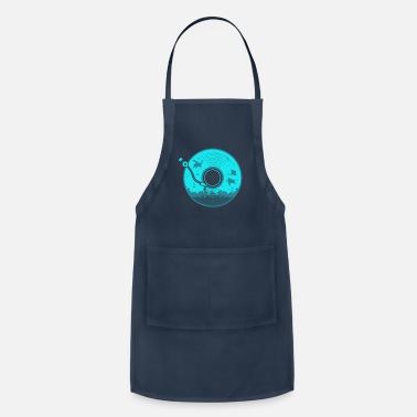 Under Water Vinyl with Under Water Scenery - Apron