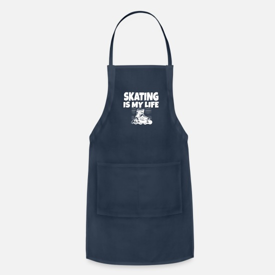 Birthday Aprons - Skating - Apron navy