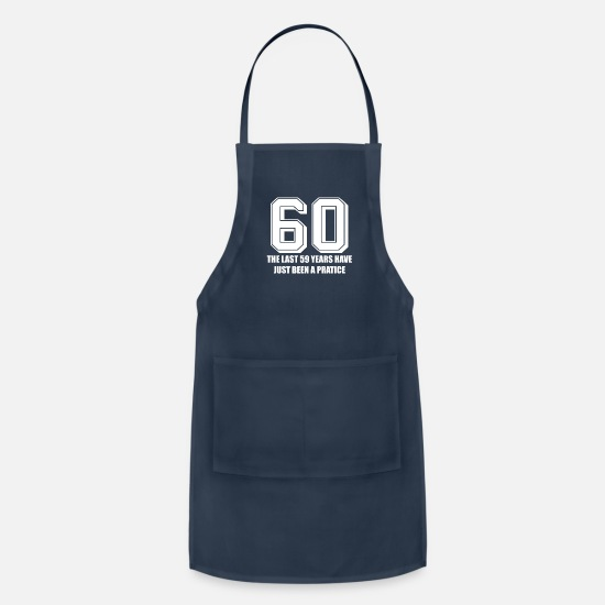 Birthday Aprons - 60. Birthday - Apron navy