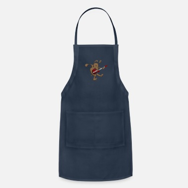 Dogs dog is playing guitar - Apron