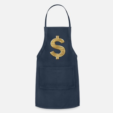 Dollar Golden Dollar Sign - Apron