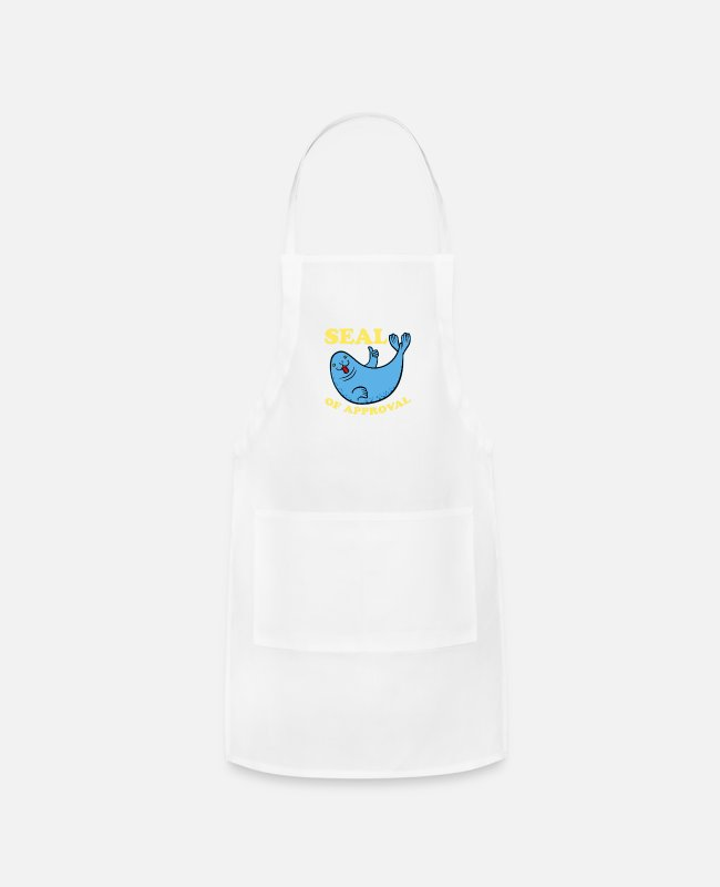 Movie Aprons - seal of approval - Apron white