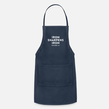 Christian Iron Sharpens Iron, Christian, Bible Verse, Faith - Apron
