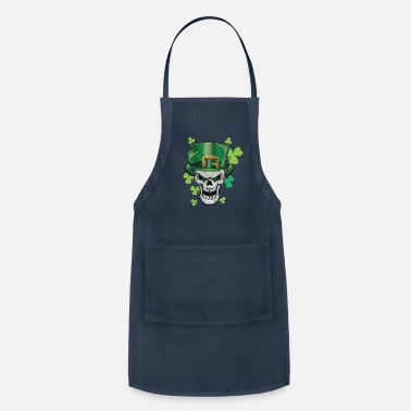 Shamrock Parade Green Beer Skull Paddy Hat Shirt & Gift - Adjustable Apron