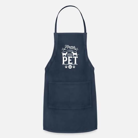 Pet Aprons - Cat Dog Animals Pet Pets - Apron navy