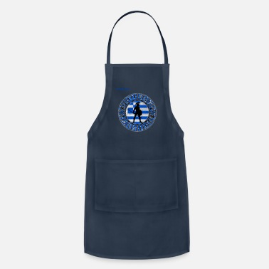 Greek Greek Spartan. Cool Greek DNA. Greek Flag - Apron