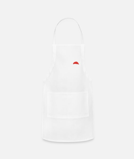 Christmas Vacation Aprons - I'm not Santa but you can sit on my Lap - Apron white