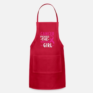 Cancer Picked The Wrong Girl - Apron