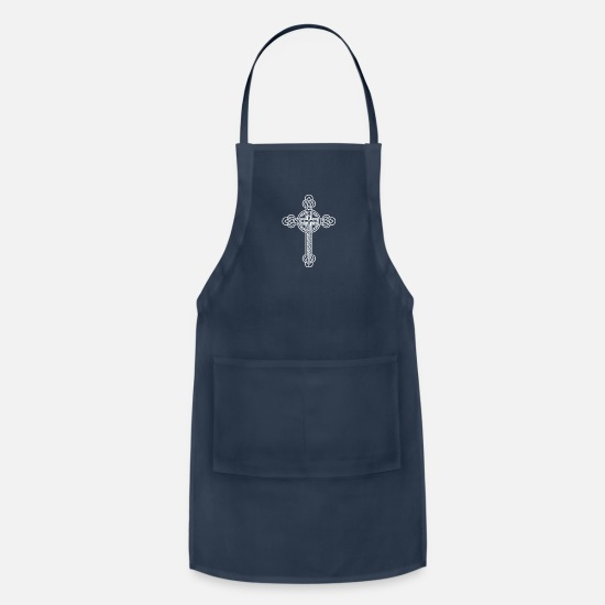 Christian Aprons - Celtic cross - Apron navy
