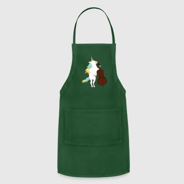 Unicorn playing Cello Funny T-Shirt for Musicians - Adjustable Apron