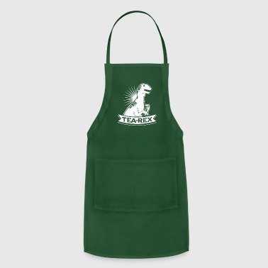 Lizard Tea Rex T-Shirt for Dinosaur Fans - Adjustable Apron