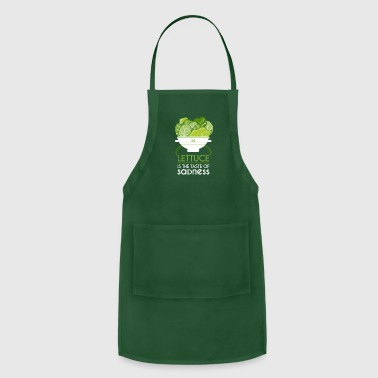 Bio Lettuce Tastes like Sadness T-Shirt for Vegans - Adjustable Apron