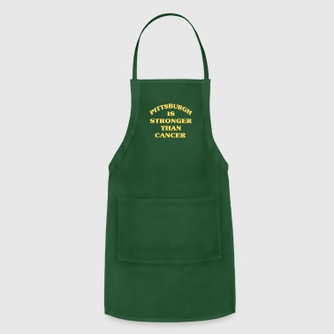 Golden Crown PITTSBURGH IS STRONGER THAN CANCER Black Gold - Adjustable Apron