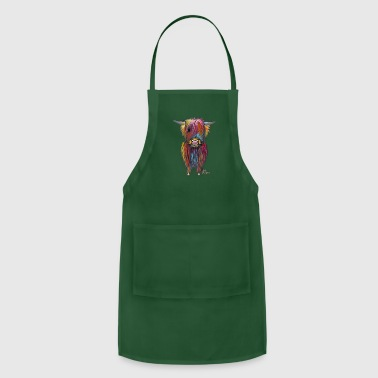 Scottish Highland Cow By Shirley MacArthur - Adjustable Apron
