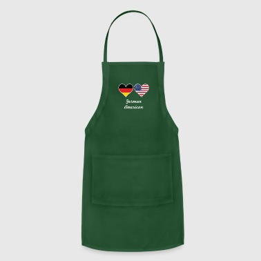German Flag German American Flag Hearts - Adjustable Apron