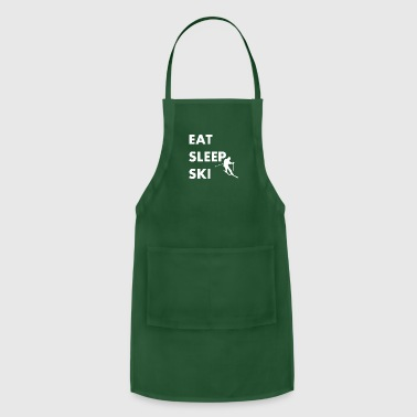 Eat Sleep Ski Skiing - Adjustable Apron