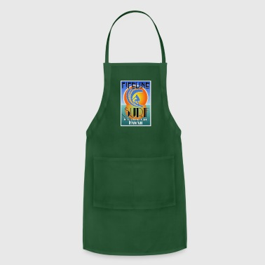 Art Deco Pipeline, North Shore, Oahu, Art Deco Style - Adjustable Apron