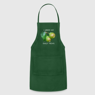 Vegetable I Need My Daily Pear White - Adjustable Apron