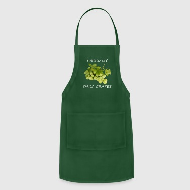 Tasty I Need My Daily Grapes - Adjustable Apron