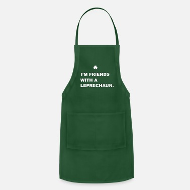 St Patrick Green Kids Friends With a Leprechaun - Apron