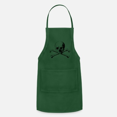 Jolly Roger crossbones jolly Roger skull - Adjustable Apron