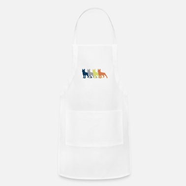 Dog Multicolored Four Dogs Colorful - Apron