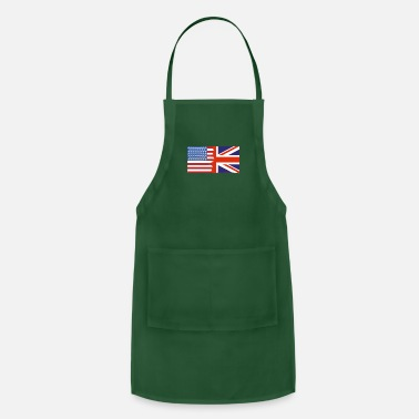 Nottingham Flag Half Uk Half USA Flags - Apron