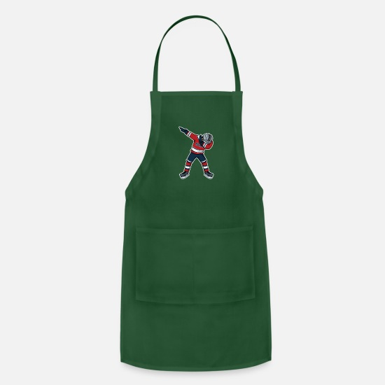 Hockey Aprons - Dabbing Hockey Player Funny Hockey Shirt - Apron forest green